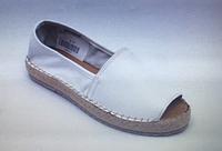 Эспадрильи женские кожаные бежевые с открытым носком