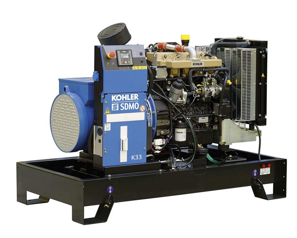 Трехфазный дизельный генератор SDMO K33 (26.4 кВт)
