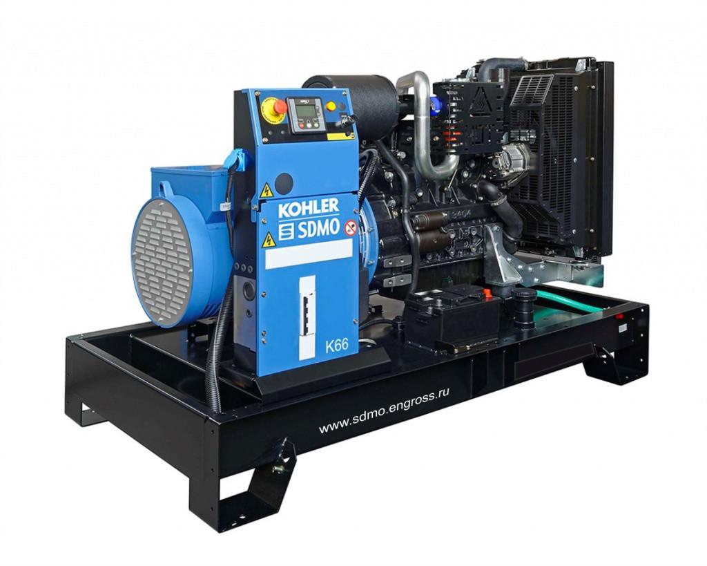 Трехфазный дизельный генератор SDMO K66 (53 кВт)
