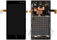 Дисплей (экран) для телефона Nokia Lumia 830 + Touchscreen with frame Original