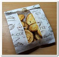 Набор 10 шт Пакет с прозрачным окошком для упаковки пряников,печенья , фото 1