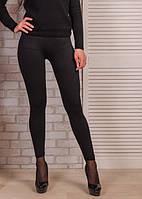 Лосины женские бесшовные хлопок Jujube, размер XL-5XL, чёрные, B 899