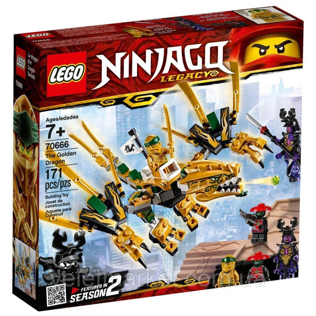 Конструктор LEGO NINJAGO Золотий Дракон 171 деталь (70666)