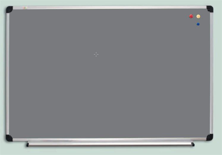 Доска текстильная ABC Office (120x90), в алюм.рамке S-line, серая
