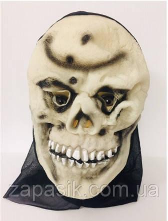 Резиновая Маска Скелета с Капюшоном Маска Карнавальная Маска на Хэллоуин