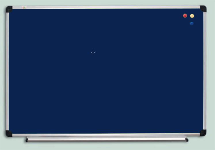 Доска текстильная ABC Office (150x100), в алюм.рамке S-line, синяя