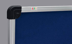 Доска текстильная ABC Office (150x100), в алюм.рамке S-line, синяя, фото 2