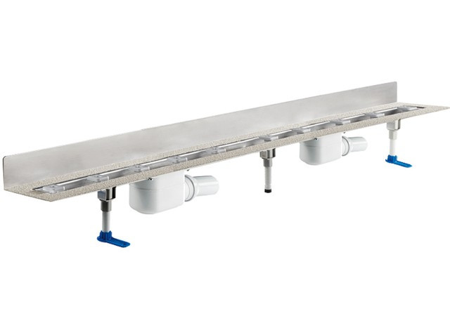 Угловой душевой лоток Hutterer & Lechner пристенный с сифоном DN50 HL50W/140