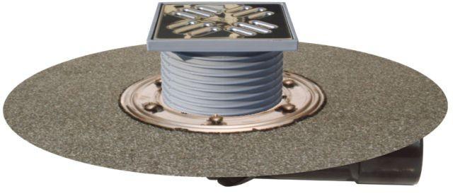 Трап для балконов и террас Hutterer & Lechner DN50/75 с морозоустойчивой запахозапирающей заслонкой 123х123мм/115х115мм HL80H