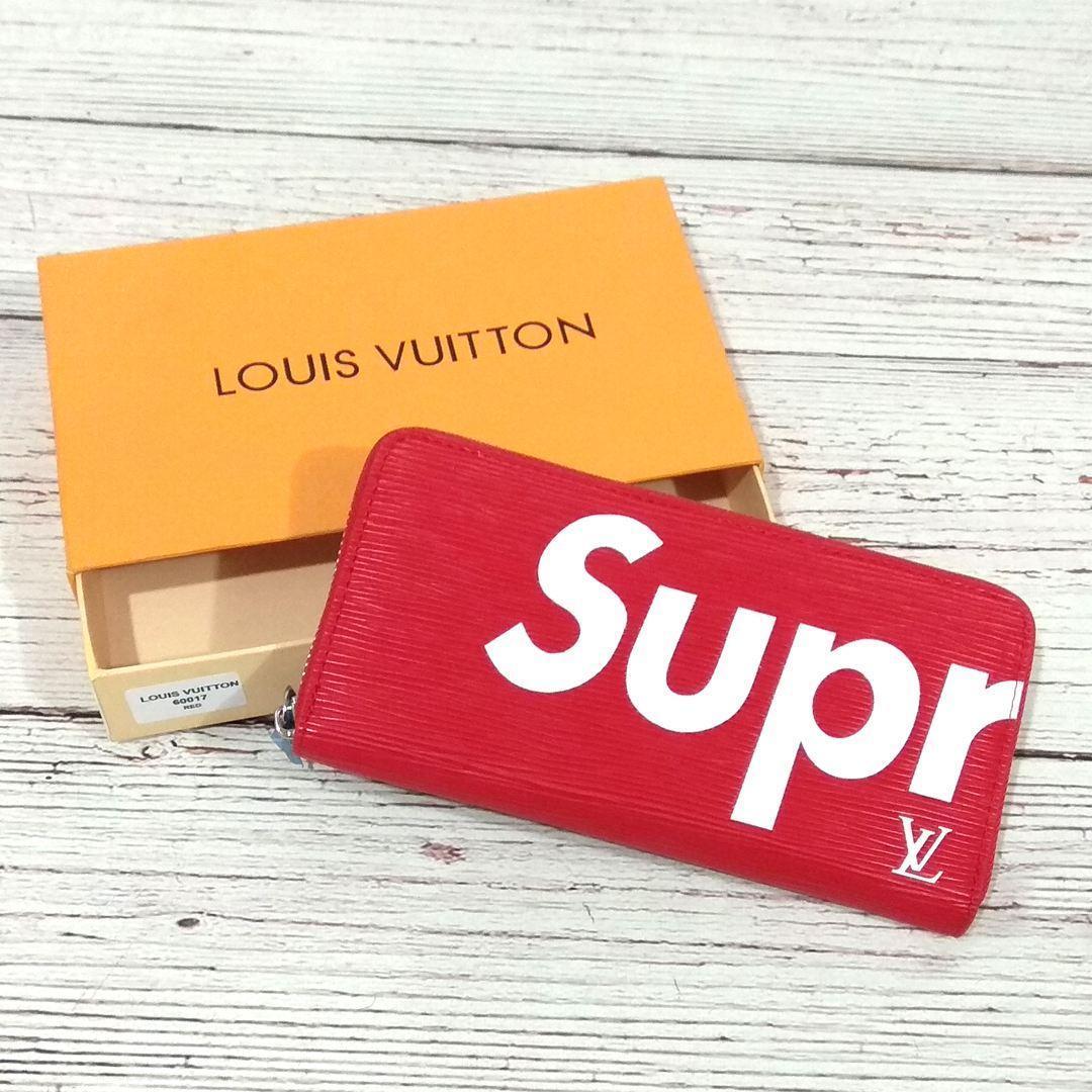 Стильный кошелек, клатч суприм. Supreme Louis Vuitton. Красный