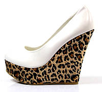 Туфли женские белые леопард Т380 р 38,39