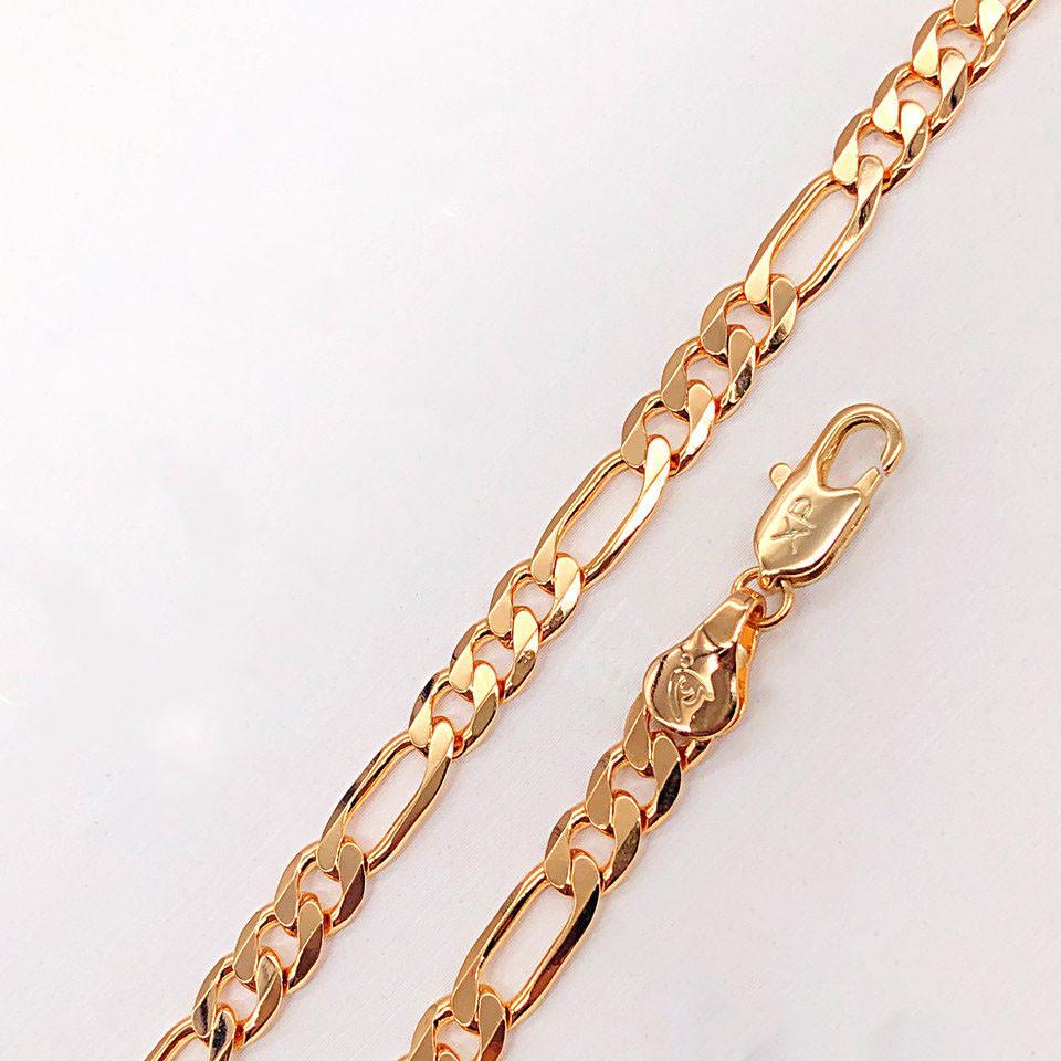 """Браслет Xuping Jewelry 19 см х 5 мм """"Фигаро"""" медицинское золото, позолота 18К. А/В 2881"""