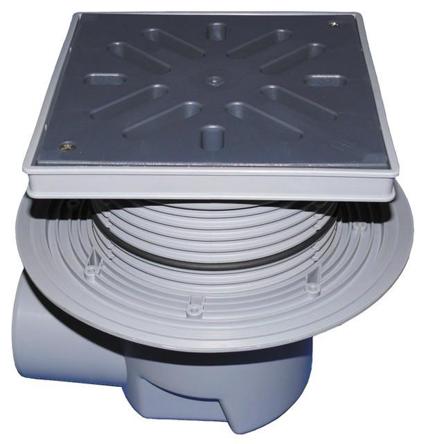 HL615L Дворовый трап серии Perfekt DN110 гор. с обжимом, с морозоустойчивой запахозапирающей заслонкой.