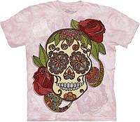 3D футболка The Mountain -  Paisley Sugar Skull