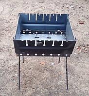 Раскладной мангал чемодан на 6 шампуров 2мм, фото 1