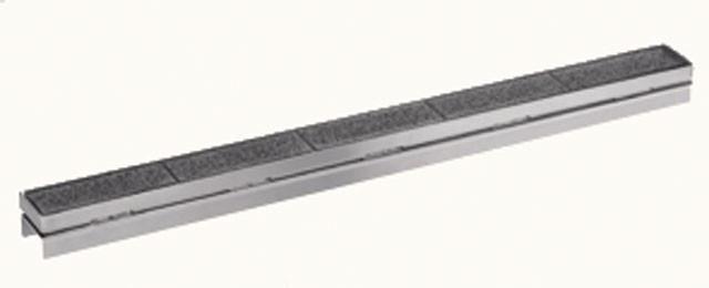 """Решётка Hutterer & Lechner серии """"Индивидуальная"""" 1200 мм под мозаичную плитку из высококачественной нержавеющей стали HL050I/130"""