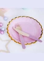 Тарелочка праздничные  розовая