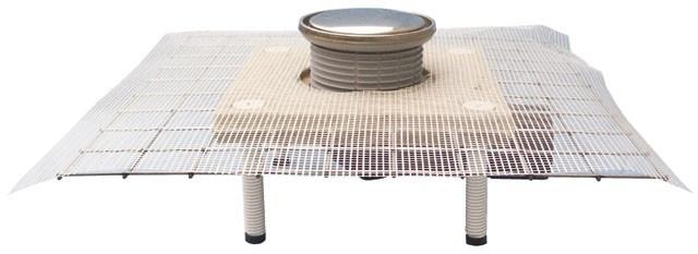 HL80CR Трап для балконов и террас DN50/75 поворотный, с запахозапирающей заслонкой