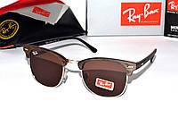 Современные солнцезащитные очки в стиле Ray Ban Clubmaster, очки рей бен клабмастер