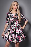 Платье  мод 369-5 размер 44,46,48 черное