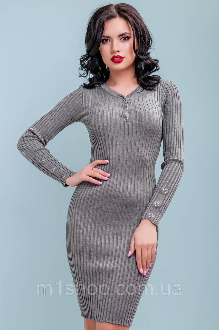 Женское облегающее платье из тонкой вязки (3247-3248 svt)