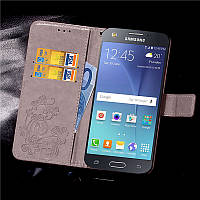 Чехол Clover для Samsung Galaxy J5 2015 J500 J500h книжка серый, фото 1