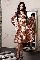 Женское платье из принтованного софта Каролина