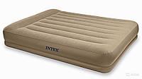 Надувная кровать Intex 67748 Pillow Rest Mid-Rise Bed Twin 152*203*38 см