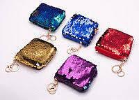 Брелок-кошелек с пайетками 10×10 см