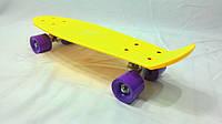 Скейтборд Cкейт Penny Board Жёлтый  колёса каучук ,мягкие