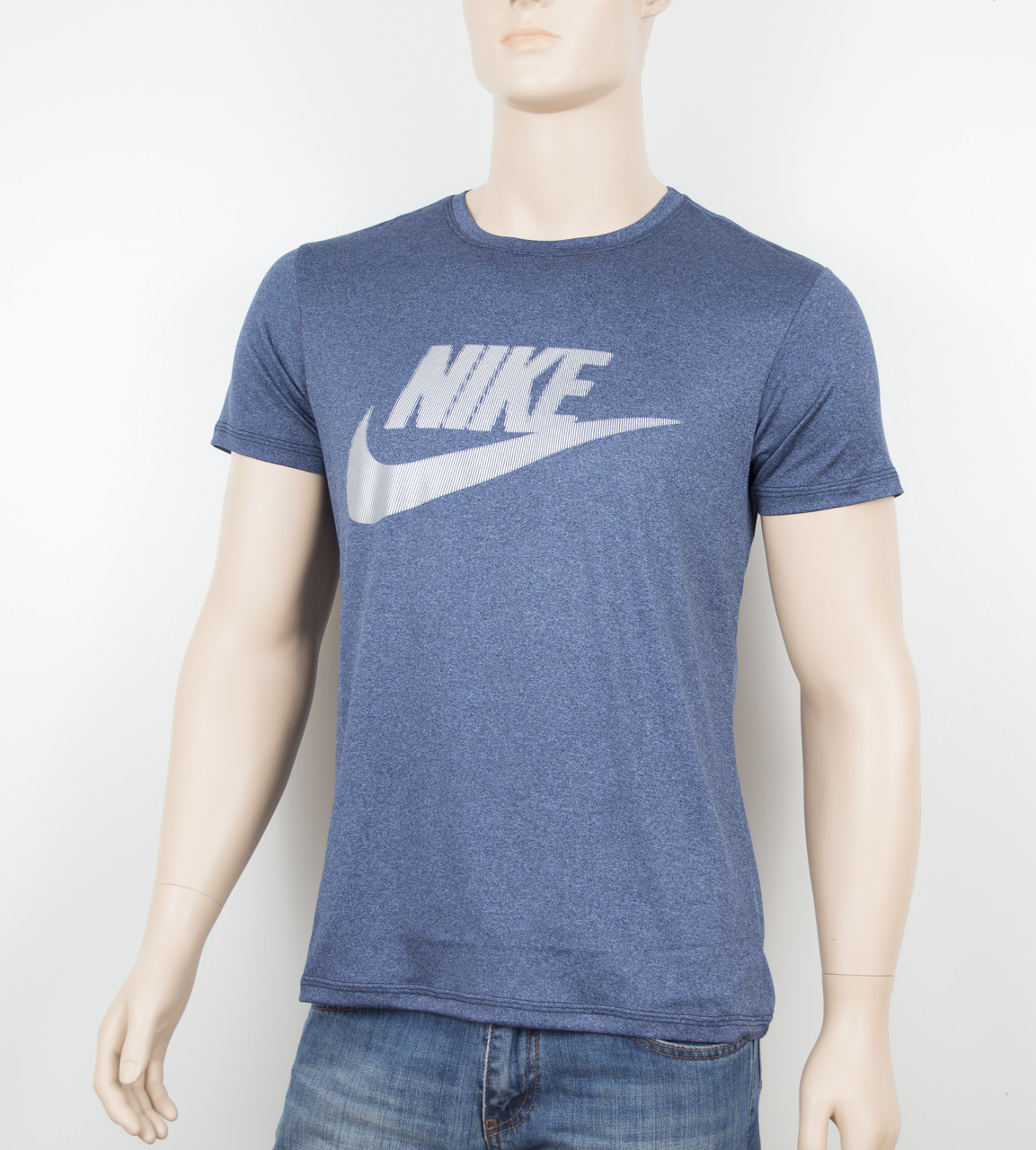 """Мужская футболка """"Вискоза"""" Nike 1902 синий"""