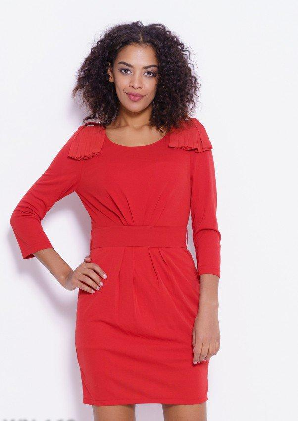 c9075900f02b7a1 Платье Оранжевое с плиссированным декором (M,S), цена 279,90 грн., купить в  Одессе — Prom.ua (ID#924693320)