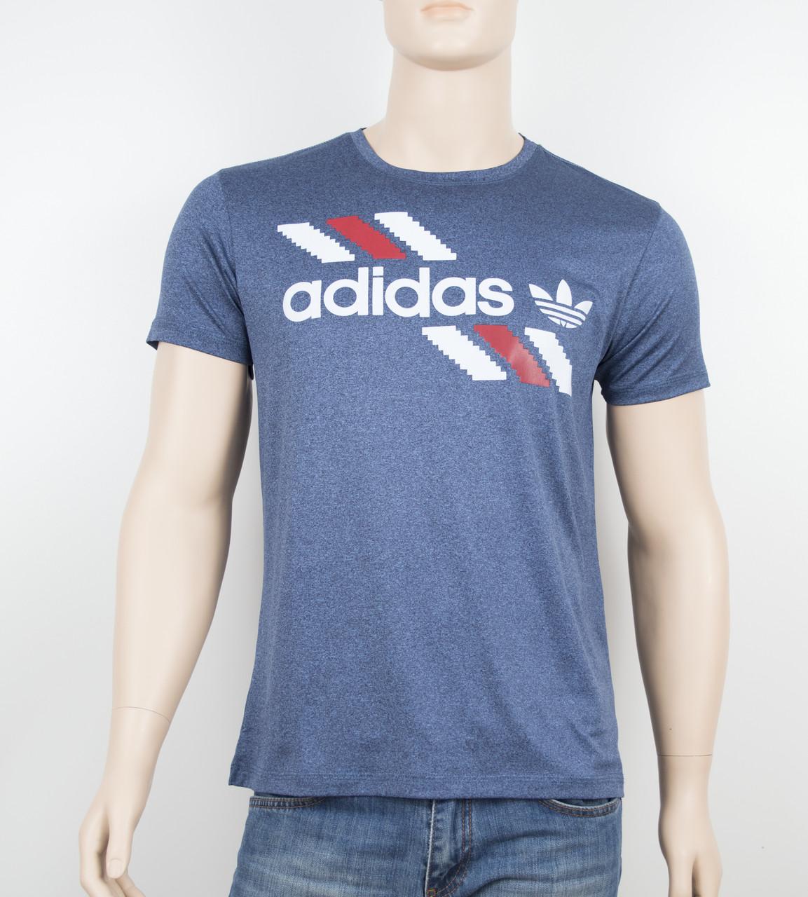 "Мужская футболка ""Вискоза"" Adidas 1901 синий"