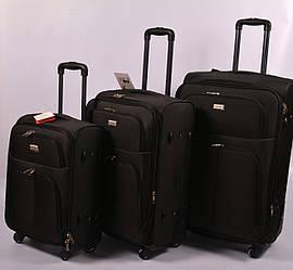 Тканевый дорожный чемодан ORMI на 4 - х колёсах ,малый,средний ,большой