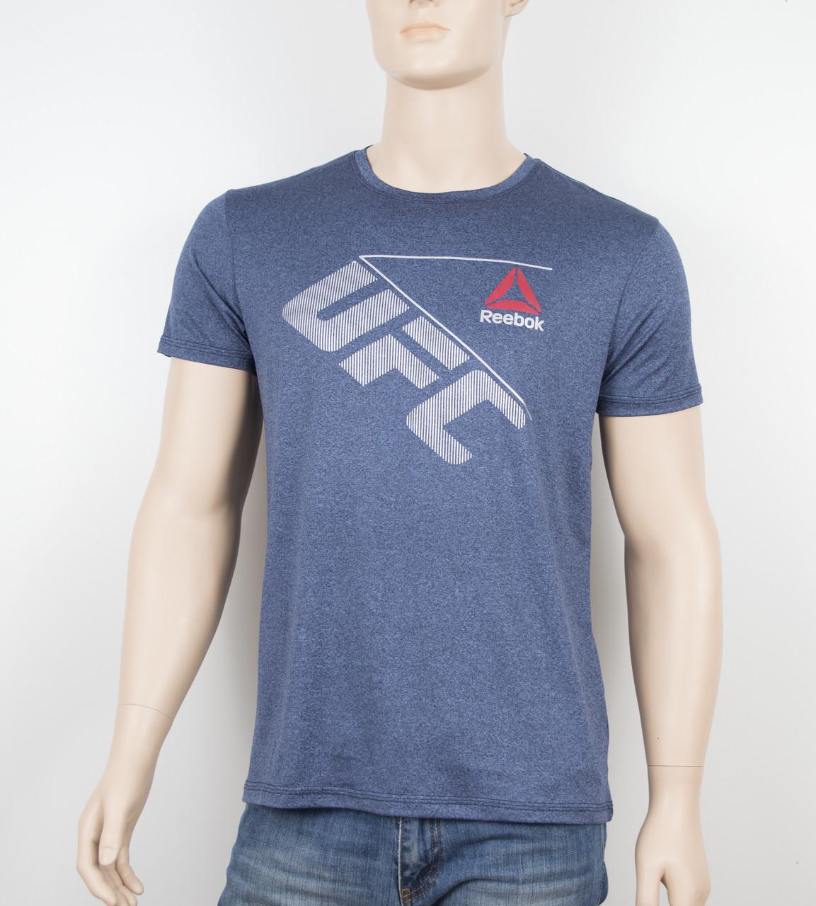"Мужская футболка ""Вискоза"" Reebok 1901 синий"