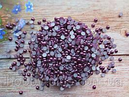 Полубусины перламутровые, 6 мм, цвет бургундия, 10 грамм (176-180 шт)