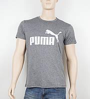 """Мужская футболка """"Вискоза"""" Puma 1901 серый, фото 1"""