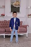 Нарядный костюм: синий пиджак и брюки для мальчика 5 лет, фото 4
