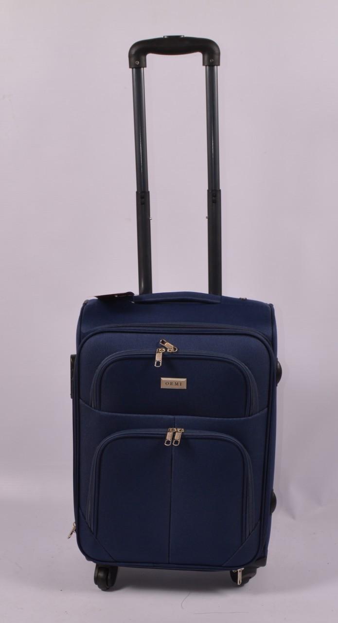 Тканевый дорожный чемодан ORMI на 4 - х колёсах ,малый