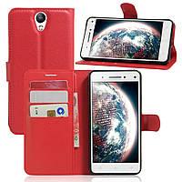 Чехол-книжка Litchie Wallet для Lenovo Vibe S1 Lite Красный