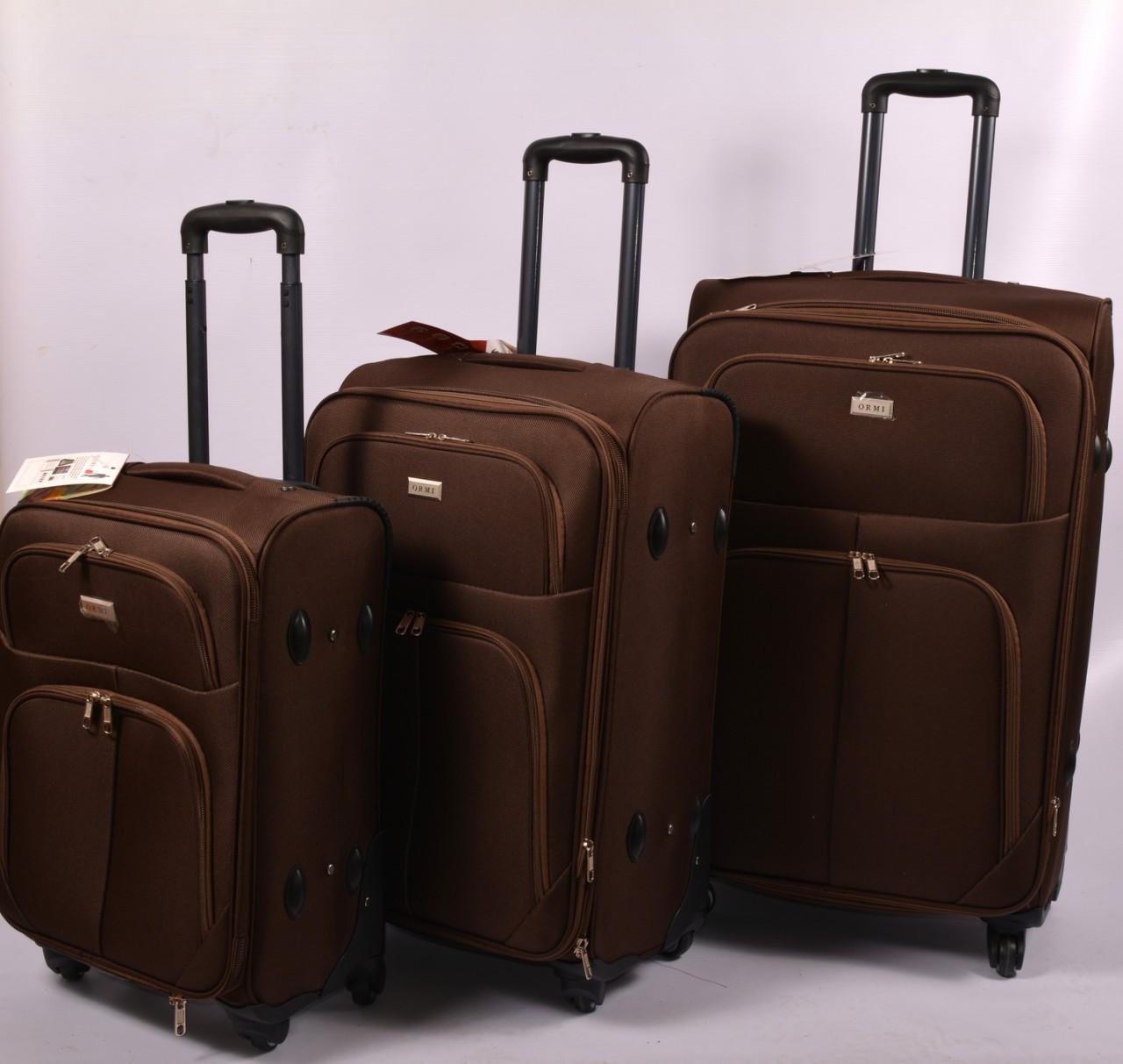 Тканевый дорожный чемодан ORMI на 4 - х колёсах большой