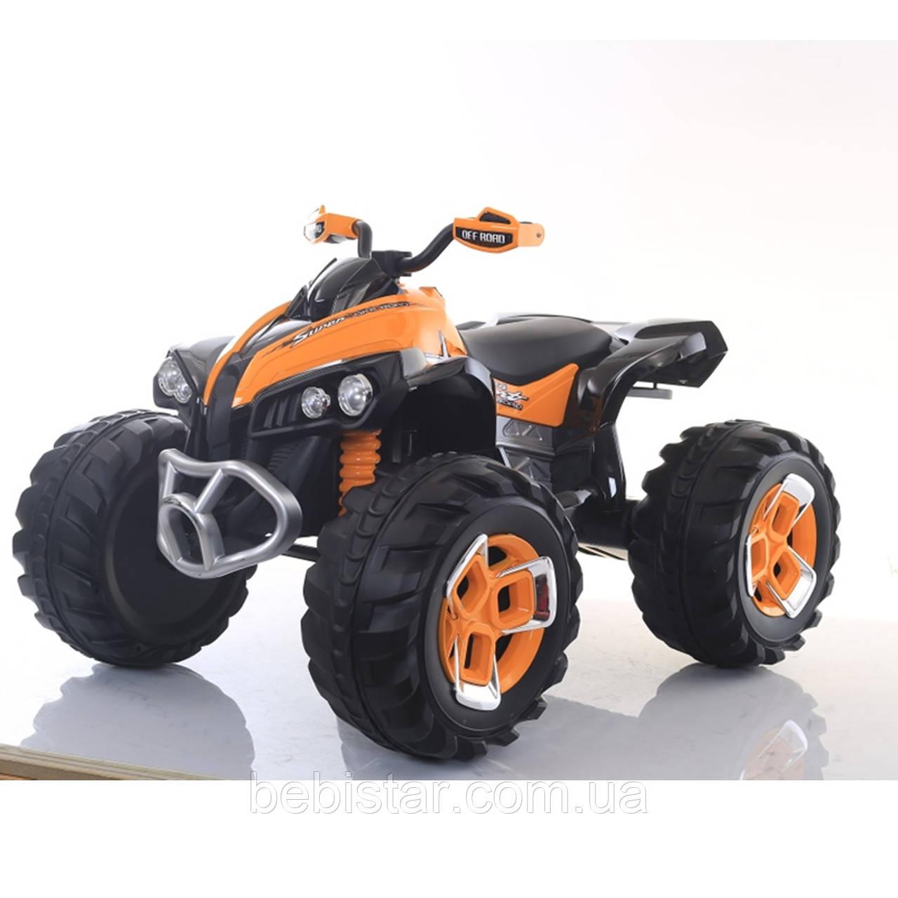 Дитячий квадроцикл електромобіль з пультом помаранчевий для дітей 3-8 років мотор 2*25W акумулятор 12V7AH