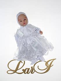 """Платье для новорожденной девочки """"Виола"""", белое"""