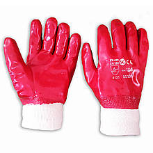 Перчатки нитриловые маслобензостойкие, узкий манжет, Польша, уп. — 12 пар