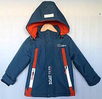 """Куртка детская демисезонная """"Boat Club"""" #C-36 для мальчиков 5-6-7-8-9 лет (110-134см). Синяя. Оптом., фото 1"""