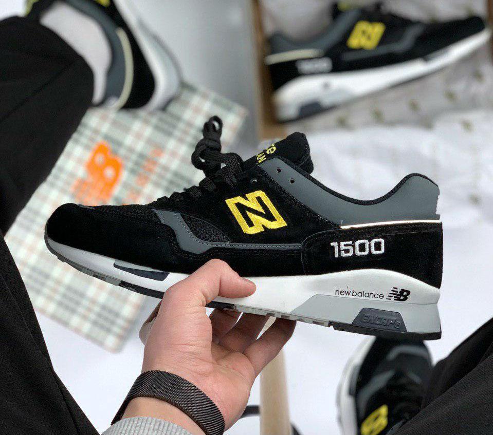 9ebd30ef45637 New Balance 1500 Black Yellow Reflective | кроссовки мужские; черные -  ISneakers в Киеве