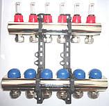 Коллектор Emmeti(Италия) на 8 выходов в сборе для теплого пола, фото 3