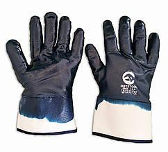 Защитные перчатки, МБС, нитриловый облив, твердый широкий манжет, уп. — 12 пар