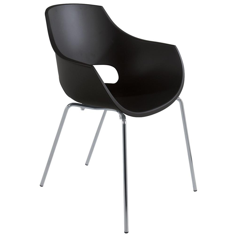 Кресло Papatya Opal-ML PRO черный, ножки хром
