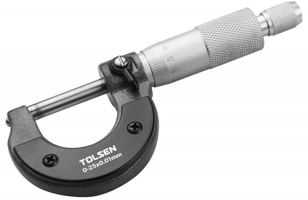 Микрометр TOLSEN 0-25мм (35055)
